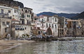 Cefalu Harbour Stock Photo