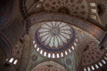 Ceiling of blue mosque the the located in istanbul turkey Royalty Free Stock Photography