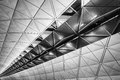 Ceiling building modern architecture of in hong kong airport Stock Images
