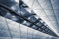 Ceiling building modern architecture of in hong kong airport Stock Photography