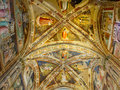 Ceiling of Castellani Chapel in Basilica di Santa Croce. Florence, Italy Royalty Free Stock Photo