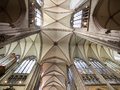 Ceiling of Cathedral in Cologne, Germany Royalty Free Stock Photo