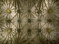 Ceiling of the cloister of Jeronimos Monastery, Belem, Lisbon, Portugal Royalty Free Stock Photo