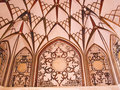 Ceiling decoration interior of historic old house in kashan ira iran Royalty Free Stock Photos