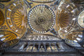 Ceiling and dome of haghia sophia istanbul turkey sultan ahmet Royalty Free Stock Photos