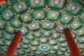 Ceiling,Double-circle pavilion Stock Image