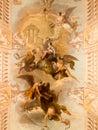Ceiling fresco Ajuda Palace Royalty Free Stock Photo