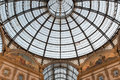 The ceiling of Galleria Vittorio Emanuele, Milan, Italy Royalty Free Stock Photo