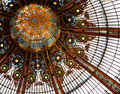 Ceiling in Galleries Lafayette Stock Image