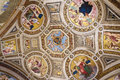 Ceiling of gallery in the Vatican Museum, Vatican, Rome, Italy Royalty Free Stock Photo