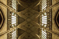 Ceiling of gothic cathedral st vitus in prague czech republic Royalty Free Stock Photo