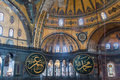 Ceiling haghia sophia former church than mosque now museum its enormous dome istanbul turkey Stock Photo