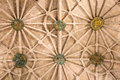 Ceiling of the Hieronymus monastery, a popular place for tourits Royalty Free Stock Photo