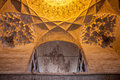 Ceiling of imam mosque in kerman iran Royalty Free Stock Photography