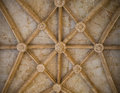 Ceiling of Jerónimos Monastery, Belem, Lisbon, Portugal Royalty Free Stock Photo