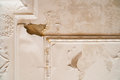 Ceiling leakage horizontal photo of a leaking the ruin the painting and makes a wet and messy look Stock Photography
