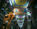 Ceiling Meenakshi Sundareswarar Temple in Madurai Royalty Free Stock Images