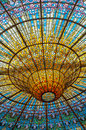 Ceiling in misic palace barcelona spain beautiful Royalty Free Stock Photos