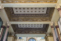 Ceiling of an old classic decor building in Rome, Italy Royalty Free Stock Photo