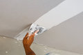 Ceiling repair for home renovate Royalty Free Stock Photo