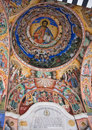Ceiling of Rila Monastery in Bulgaria Royalty Free Stock Photo