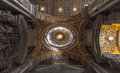 Ceiling of the Saint Peter Basilica, Vatican, Rome Royalty Free Stock Photo