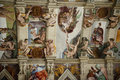 The ceiling in the Sistine Chapel in the Vatican Royalty Free Stock Photos