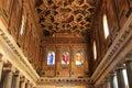 Inside of the Santa Maria in Trastevere, Rome Royalty Free Stock Photo