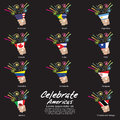 Celebrate americas vector illustration eps Stock Photo