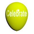 Celebrate balloon means events parties and celebrations meaning Royalty Free Stock Image