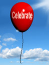 Celebrate balloon means events parties meaning and celebrations Stock Image