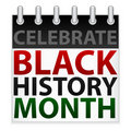Celebrate Black History Month Icon Stock Image