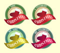 Celebrate Christmas Symbol Badge Icon Logo Design Royalty Free Stock Photography