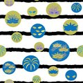 Vector Carnival Elements Stripes Seamless Repeat Pattern.
