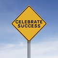Celebrate success a conceptual road sign indicating Royalty Free Stock Photo