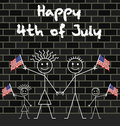 Celebrating 4th of July Royalty Free Stock Photography