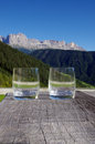 Celebrating the dolomites Royalty Free Stock Images