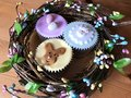 Iced Cupcakes In A Handmade Easter Wreath