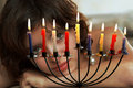 Celebrating Hanukkah Royalty Free Stock Photo