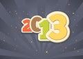 Celebrating a happy new year 2013 Stock Photos
