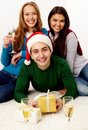 Celebrating holiday Stock Image