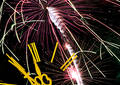 Celebrating new year (fireworks) Stock Images