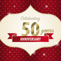 Celebrating 50 years anniversary. golden style. Vector Royalty Free Stock Photo
