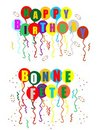Celebrating your Birthday and Bonne Fete Stock Images