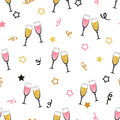 Celebration background with champagne glasses.