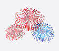 Celebration background with explosion over white background vector illustration Royalty Free Stock Photos