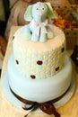 Celebration cake with elephant figure Royalty Free Stock Photo