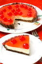 Celebration Cherry cheesecake dessert Royalty Free Stock Image