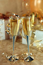 Celebration of an Event With Champagne Glasses and Stock Images