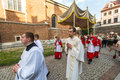 During the celebration the feast of corpus christi body of christ also known as corpus domini krakow poland jun is a latin rite Stock Photo